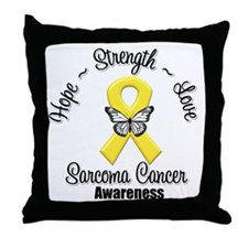 Strength Sarcoma Cancer Throw Pillow