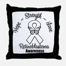 Strength Retinoblastoma Throw Pillow