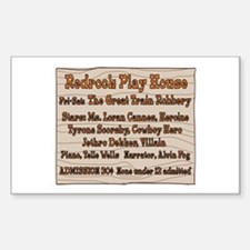 Old West Redrock Play House Sticker (Rectangle)