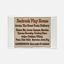 Old West Redrock Play House Rectangle Magnet