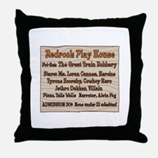 Old West Redrock Play House Throw Pillow