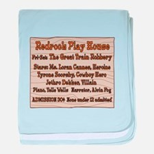Old West Redrock Play House baby blanket