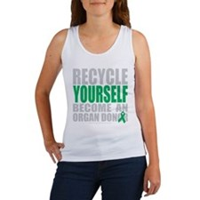 Recycle-Yourself-Organ-Donor-blk Tank Top