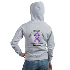 Strength Pancreatic Cancer Zip Hoodie