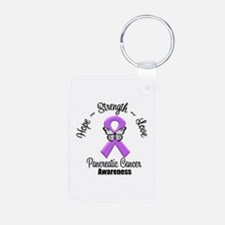 Strength Pancreatic Cancer Keychains