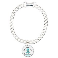 Strength Ovarian Cancer Charm Bracelet, One Charm