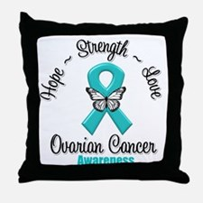 Strength Ovarian Cancer Throw Pillow