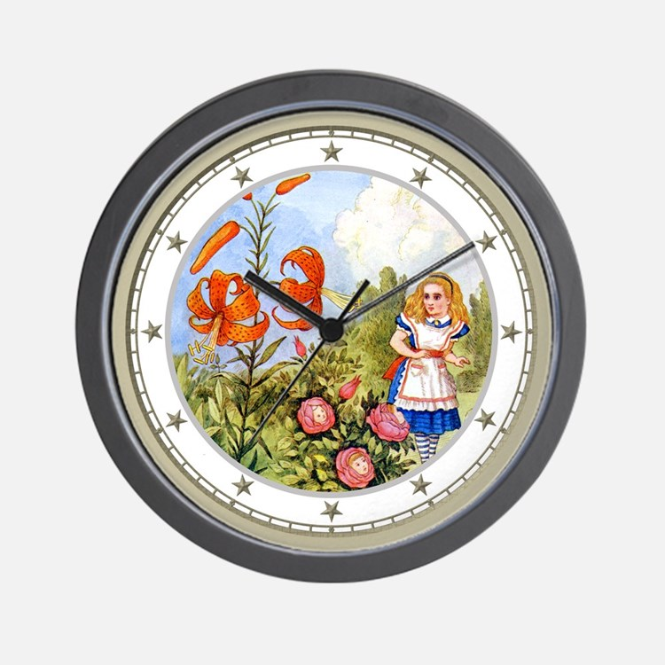 Alice & the Talking Flowers Wall Clock
