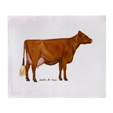 shorthorn canvas and prints Throw Blanket