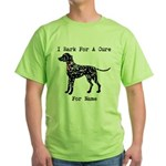 Dalmatian Personalizable I Bark For A Cure Green T