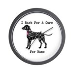 Dalmatian Personalizable I Bark For A Cure Wall Cl