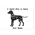 Dalmatian Personalizable I Bark For A Cure Postcar