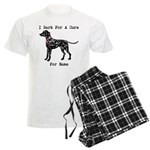 Dalmatian Personalizable I Bark For A Cure Men's L