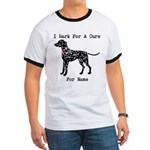 Dalmatian Personalizable I Bark For A Cure Ringer