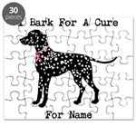 Dalmatian Personalizable I Bark For A Cure Puzzle