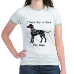 Dalmatian Personalizable I Bark For A Cure Jr. Rin
