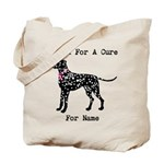Dalmatian Personalizable I Bark For A Cure Tote Ba