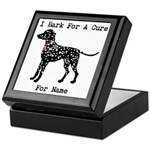Dalmatian Personalizable I Bark For A Cure Keepsak