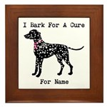 Dalmatian Personalizable I Bark For A Cure Framed