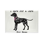 Dalmatian Personalizable I Bark For A Cure Rectang