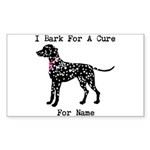 Dalmatian Personalizable I Bark For A Cure Sticker