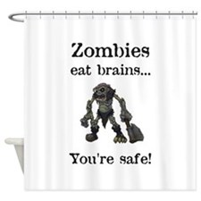 Zombies Eat Brains Shower Curtain