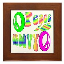 Peace IS Groovy! Framed Tile