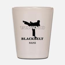 Personalized TKD Black Belt Shot Glass