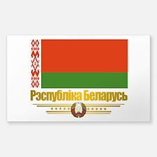 """Belarus Flag"" Sticker (Rectangle)"