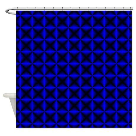 Blue Diamonds Shower Curtain