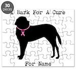 Saint Bernard Personalizable I Bark For A Cure Puz