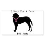 Saint Bernard Personalizable I Bark For A Cure Sti