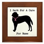 Saint Bernard Personalizable I Bark For A Cure Fra