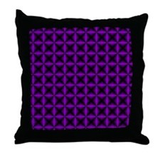 Purple Diamonds Throw Pillow