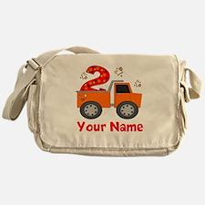 2nd Birthday Dump Truck Messenger Bag