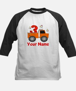 3rd Birthday Dump Truck Kids Baseball Jersey
