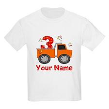 3rd Birthday Dump Truck T-Shirt