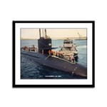 USS BARBEL Framed Panel Print