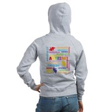 Autism Awareness Collage Zip Hoodie