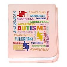 Autism Awareness Collage baby blanket