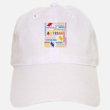 Autism Awareness Collage Baseball Baseball Cap