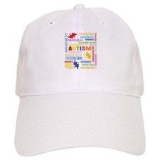 Autism Awareness Collage Baseball Cap