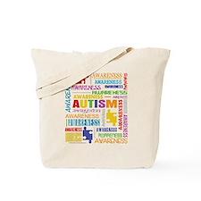Autism Awareness Collage Tote Bag