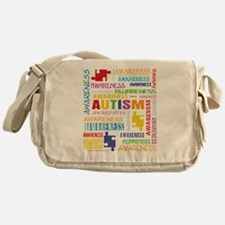 Autism Awareness Collage Messenger Bag