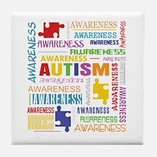 Autism Awareness Collage Tile Coaster