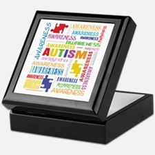 Autism Awareness Collage Keepsake Box