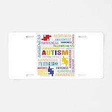 Autism Awareness Collage Aluminum License Plate