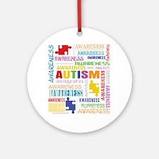 Autism Awareness Collage Ornament (Round)