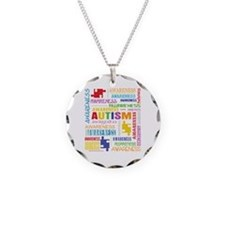 Autism Awareness Collage Necklace Circle Charm