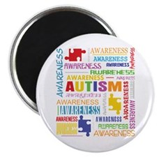 Autism Awareness Collage Magnet